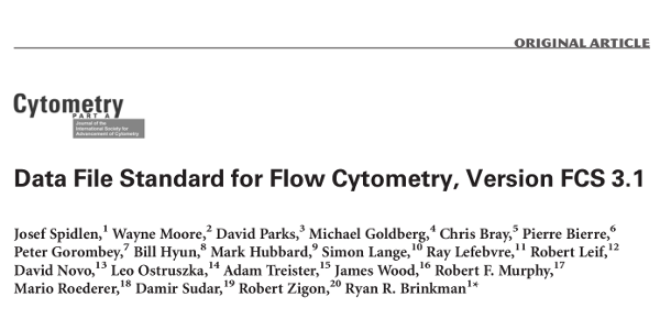 Data File Standard for Flow Cytometry, Version FCS 3.1