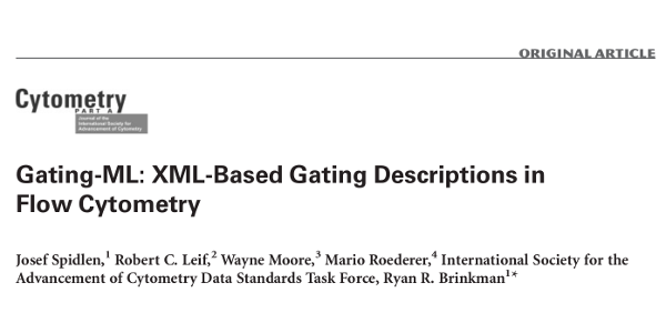 Gating-ML: XML-based Gating Descriptions in Flow Cytometry