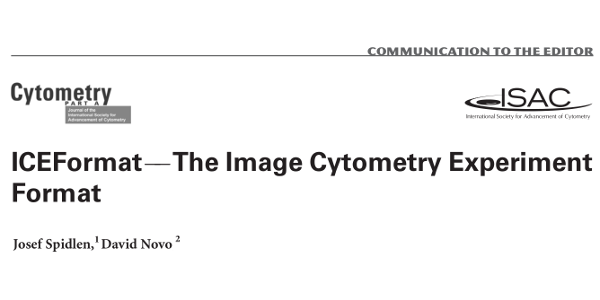 ICEFormat - The Image Cytometry Experiment Format