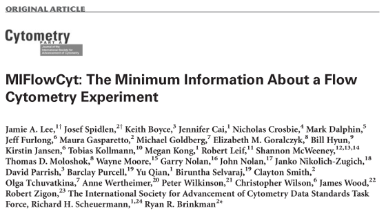 Minimum Information about a Flow Cytometry Experiment